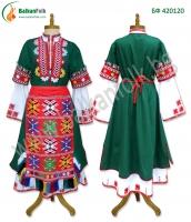Македонска женска носия със зелена сая