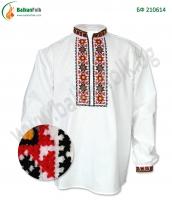 Мъжка тракийска бродирана риза с код БФ 210614