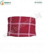 БФ 810501 - Мъжки червен пояс с бели черти